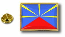 pins pin badge pin's metal  avec pince papillon drapeau ile de la reunion