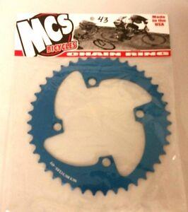 MCS BMX 104 4 BOLT CHAINRING GEAR USA MADE CNC 38T BLUE