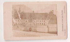Vintage CDV Old Monastery at Aix-les-Bains France Great Image  Demay Photo