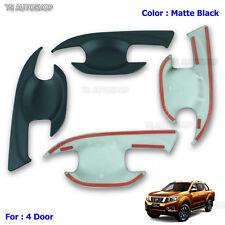 Fit Nissan Navara Np300 D23 2015 2016 Matte Black 4dr Handle Bowl Insert Cover