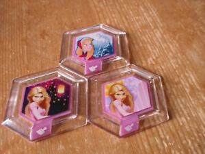 Disney Infinity discs x 3  inc Rapunzel Birthday and Frozen