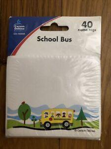 Carson-Dellosa School Bus Name Tags-  40  CD-150008