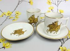 Two rare vintage Old Foley James Kent Coffee Cups 6691. Greek warriors on horses