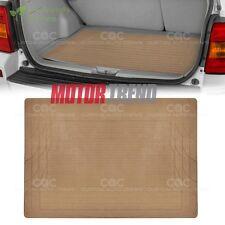 Beige Heavy Duty Rubber Floor Mats Car SUV Truck All Weather ODORLESS 1 PC Set
