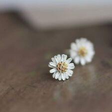 Elegant Daisy Flower Studs 925 Sterling Silver floral dainty wedding jewelry
