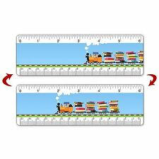 Ruler Bookmark Kids Toy Train School Books 6 Inch Animated Lenticular #RU06-352#