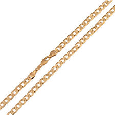 FIN003-Vintage 520mm Yellow Gold Filled Necklace Chain Mens Womens Cuban Jewelry