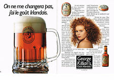 PUBLICITE ADVERTISING  1990    BIERE ROUSSE  GEORGE KILLIAN'S   (2 pages)