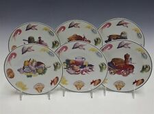 """(6) PORCELAINE LEBOUC LEGRAND LEBOUC Limoges SEAFOOD SHELL FISH Plates 7-3/8""""D"""