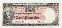 .NICE HIGH GRADE 1960 R63 AUSTRALIAN 10 POUNDS NOTE. WA57