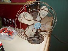 "Vintage Emerson Electric Type 2450G 10"" Oscillating Electric Desk Fan Art Deco"