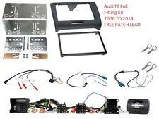 AUDI TT 2006 to 2014 COMPLETE DOUBLE DIN FITTING FASCIA ADAPTER CAR CTKAU03