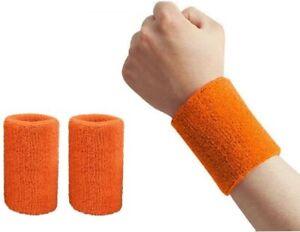 Wrist Sweatbands Sports Wristband Cotton Sweat Band for Men and Women 2pcs