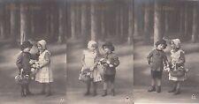 """3 Postkarten - Serie """"Hansel und Gretel"""""""
