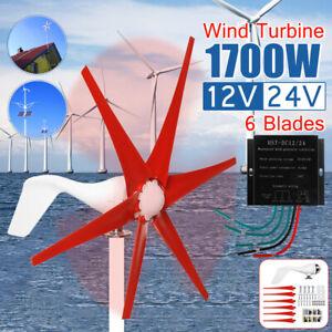 🔥 1700W Horizontal Wind Turbine Generator 6 Blades Controller Clean