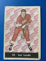 Len Lunde 1961-62 Parkhurst Hockey Card #24  See Photos for Condition