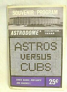 1965 Houston Astros vs Cubs Souvenir Program in Astrodome - FREE SHIPPING