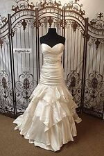 C42 WTOO BRIDES BY WATTERS FIT N FLARE SZ 10 PETITE $899 WEDDING GOWN DRESS