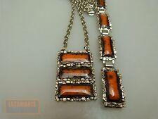 70s vintage bracelet + collier émaillé enamel Bracelet + Necklace seventies