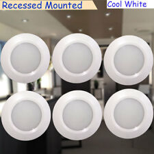 6X 12V RV Under Cabinet LED Recessed Light Fixtures Natural White  Surface Mount