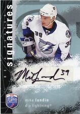 07-08 BE A PLAYER BAP SIGNATURE AUTOGRAPH AUTO MIKE LUNDIN LIGHTNING *33836