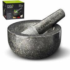 Natural Granite Pestle & Mortar Spice Herb Crusher Grinder Grinding Paste Pestal