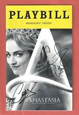 ANASTASIA signed by CHRISTY ALTOMARE and CODY SIMPSON (his B'way debut) PLAYBILL