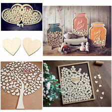 New 100pcs Rustic Wooden Love Heart Wedding Table Scatter Decoration Crafts