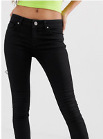 BNWT ROXY LADIES HIPSTER STRETCH SKINNY CORD JEANS (BLACK) SIZE 6 RRP $89.99