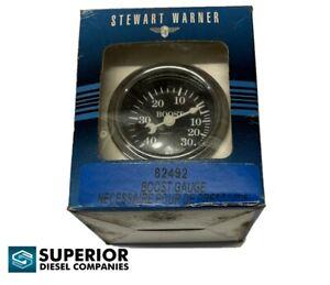 Stewart Warner 82492 Wings Boost Gauge, Black