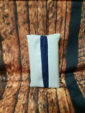 Handmade Gray and Navy blue tissue holder