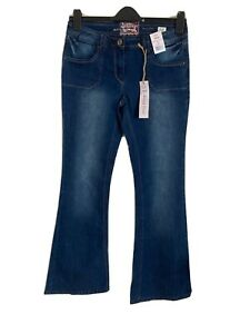F&F Size 10 Blue Skinny Flare Jeans -(C95)