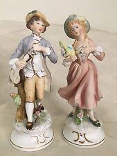 """Vintage Lenwile Lady & Man Figurines #6689 Hand Pained """"ARDALT"""" Japan"""