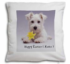 Personalised Name Westie Soft Velvet Feel Cushion Cover With Inner, AD-W7DA2-CPW