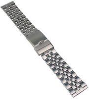 Edelstahl Uhrenarmband Metallband mit Faltschliesse 20-24mm Uhr Band Armband 2