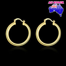 Wholesale 18K Yellow Gold Filled Round Hoop Earrings 7mm Women's Elegant Gift