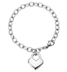 Stainless steel ladies link heart beautiful bracelet *New*