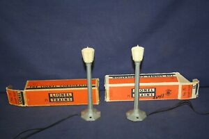 Lionel TWO #71 Lamp Posts w/OBs Rewired Tested Ready to Use #2