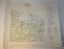Vintage Forest Service Map Vilas County WI 1948 - Lac Vieux Desert