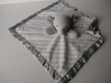 Cloud Island Elephant Baby Security Blanket Lovey Soother Satin Gray Target EUC
