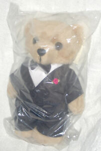 NRMA Care Flight CareFlight Teddy Bear BRUCE wedding groom new in sealed bag