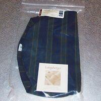 Longaberger Collectors Club Stripe OVAL SERVING TEA TRAY Basket Liner ~ New!