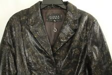 Siena Studio Women's Brown Genuine Leather Python Jacket Size L