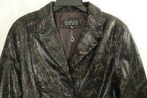 Siena Studio Women's Brown Genuine Leather Jacket Size L