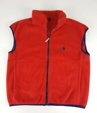 The North Face Mens Vintage Fleece Vest Size Medium Red Blue