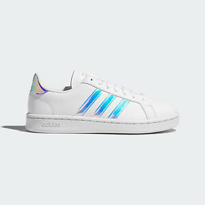 Adidas NEO Grand Court [EE9689] Women Casual Shoes White/Silver Metallic
