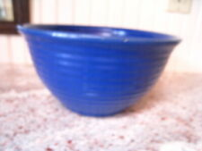 "Early Vintage  BAUER Ringware BOWL #18 MIXING Cobalt BLUE 8""  BEEHIVE"
