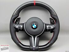 BMW F80 M3 F82 M4 X5M X6M Flat Bottom SAKHIR ORANGE Thick CARBON Steering WHEEL
