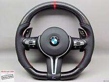 BMW F80 M3 F82 M4 X5M X6M Flat Bottom SAKHIR ORANGE Thick CARBON Steering WHEEL