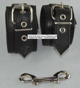 AW-9970 DamenLedermanschette gepolstert Lammnappa Handfesseln aus weiches leder